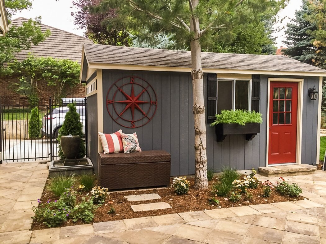 shed stone the deluxe sale sheds patio usa shop garden for ramp