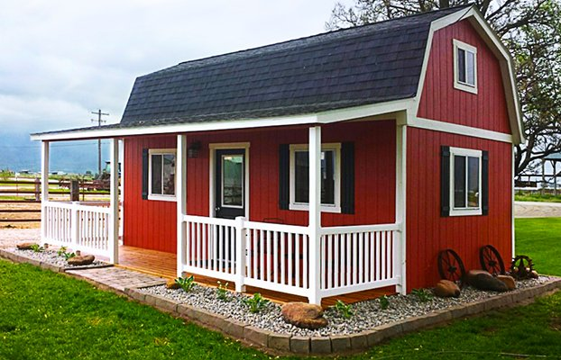 Prefab porch building kits joy studio design gallery for Small barn home kits