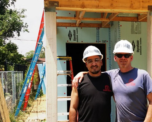 Corporate Tuff Shed gets their Hands Dirty