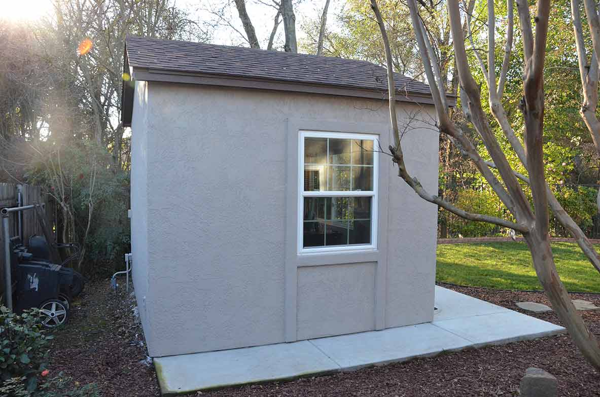 Down To Business With This Backyard Office Tuff Shed How Wire A For Electricity Man Who Spends 45 50 Hours Week Working At Home John Wanted More Than He Something Personal And Thats Exactly What We Helped Him