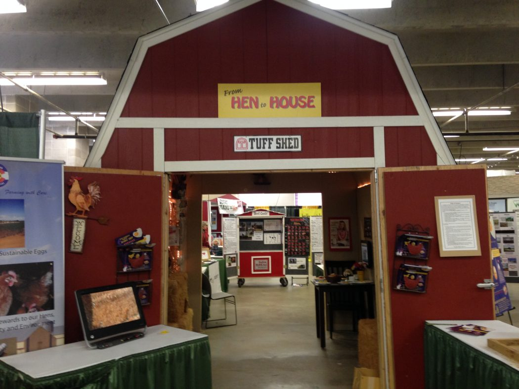 "The ""Hen House"", where guests can learn more about the agricultural industry."