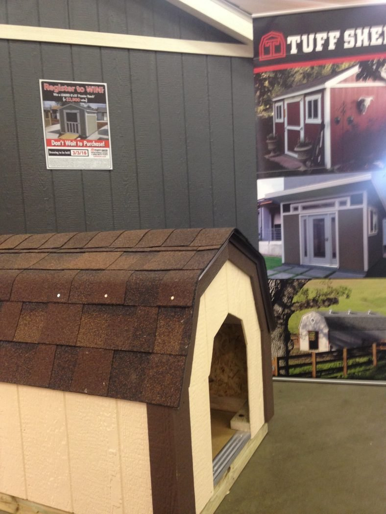 The dog shed at our display was the star of the show.