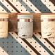 The finished mason jar organizer.