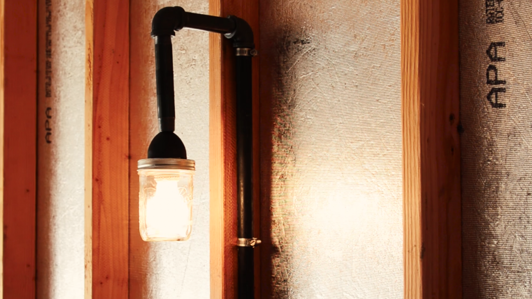 This rustic, industrial lamp is simple DIY for your workspace.