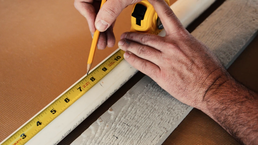 Start by measuring the length of the PVC that you'll want to use.