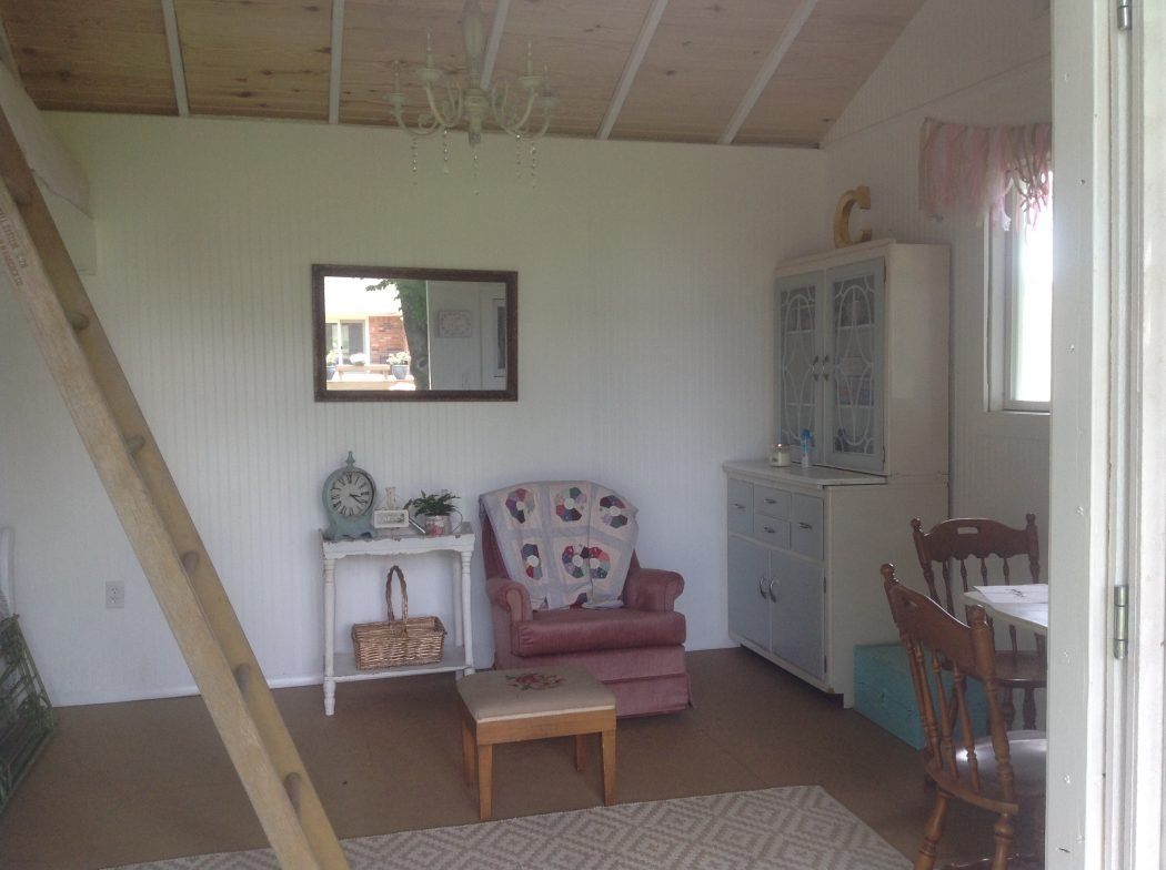 shabby chic meets the backyard shed tuff shed