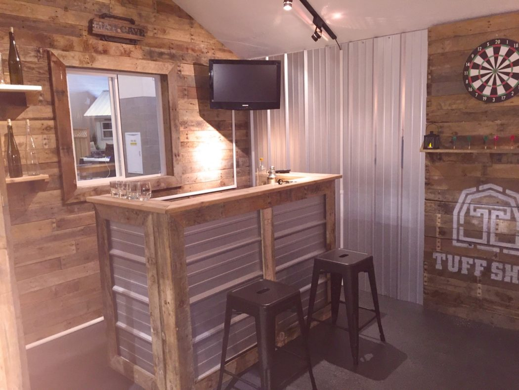 Design a Man Cave Worthy of a Grunt - Tuff Shed on Man Cave Patio Ideas id=95339