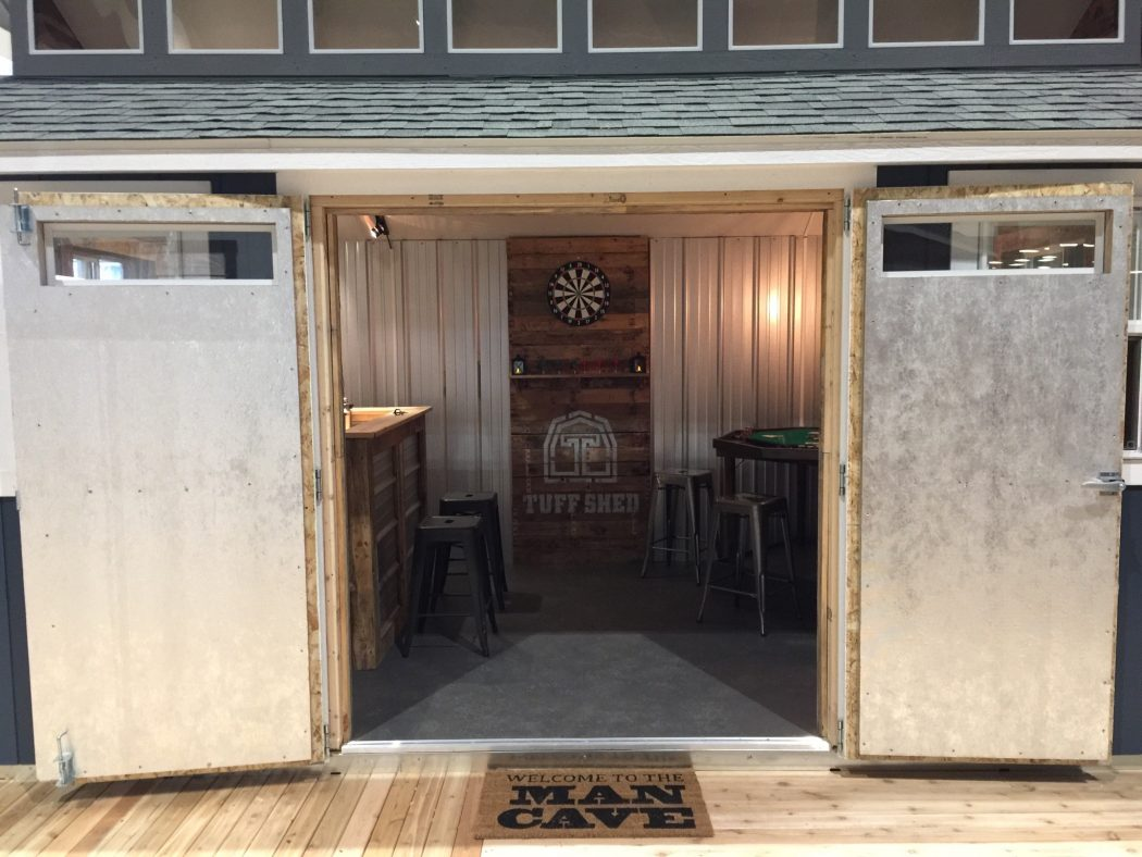 design a man cave worthy of a grunt tuff shed