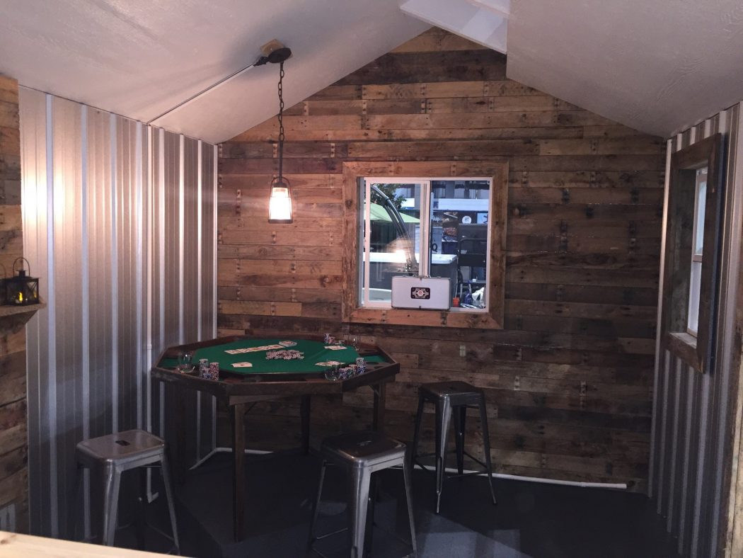 Design a man cave worthy of a grunt tuff shed for Design a man cave