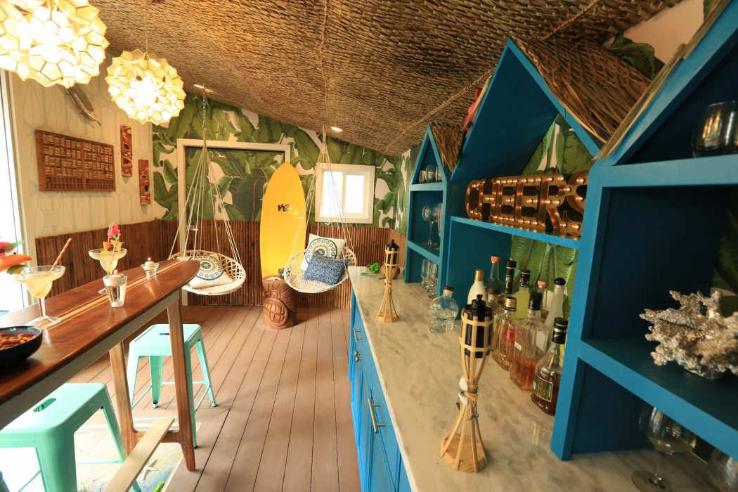 The Interior Of Tiki Shed