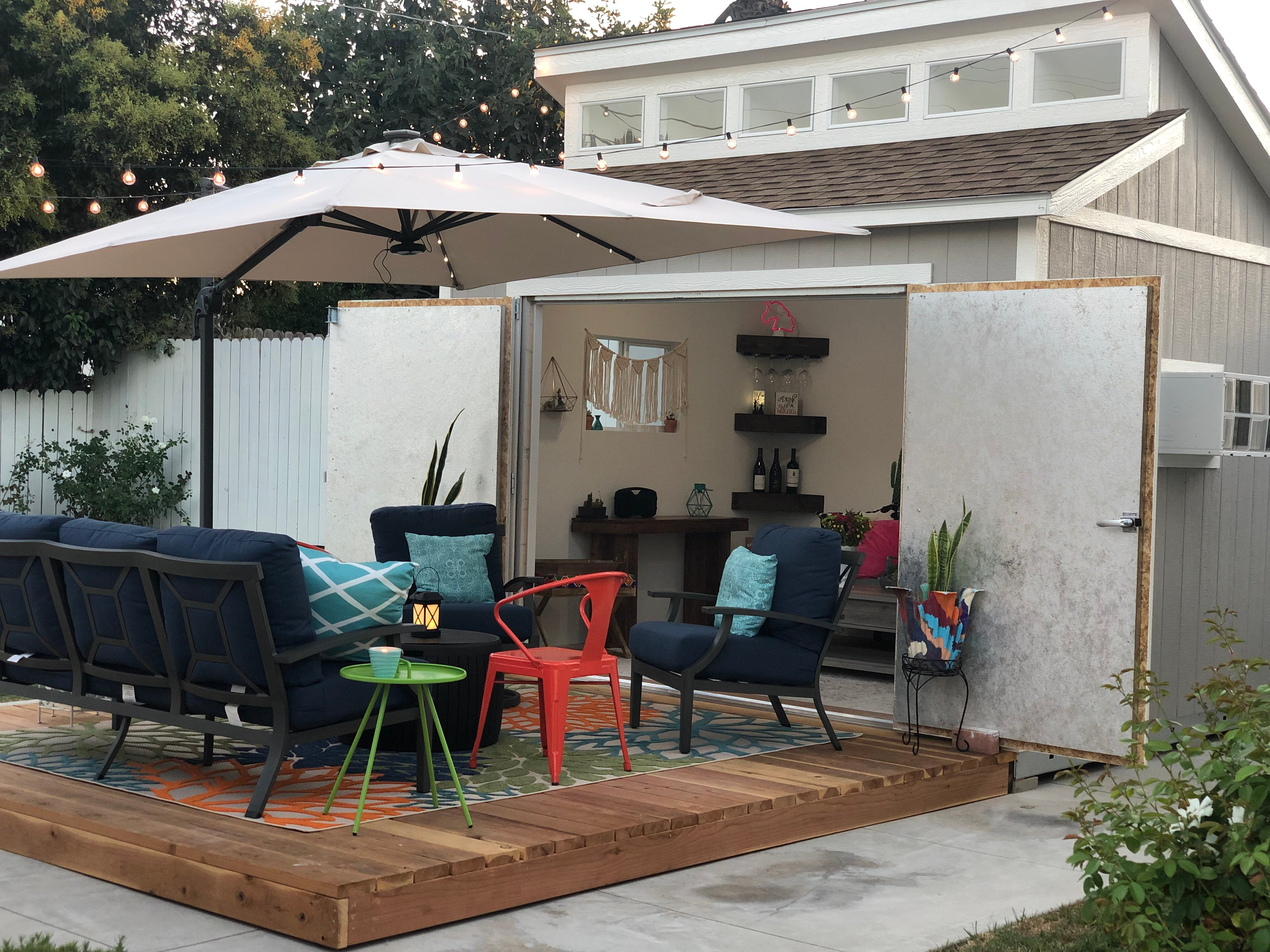 Lorna's Backyard Office and Entertaining Space