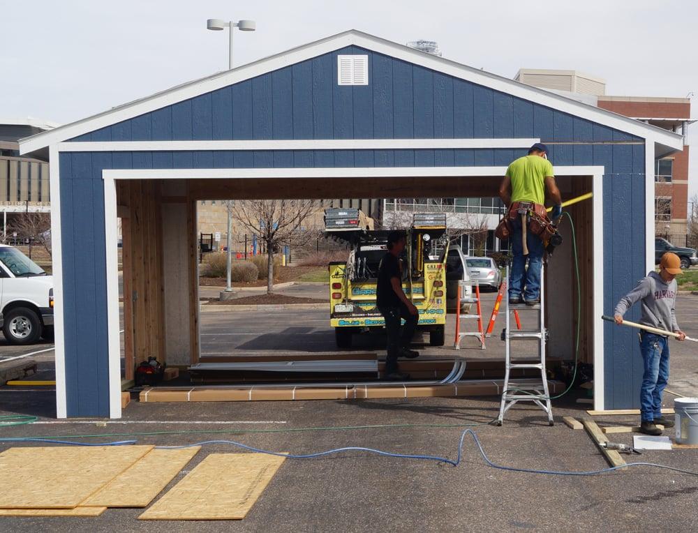 The garage for Children's Hospital under constrcution