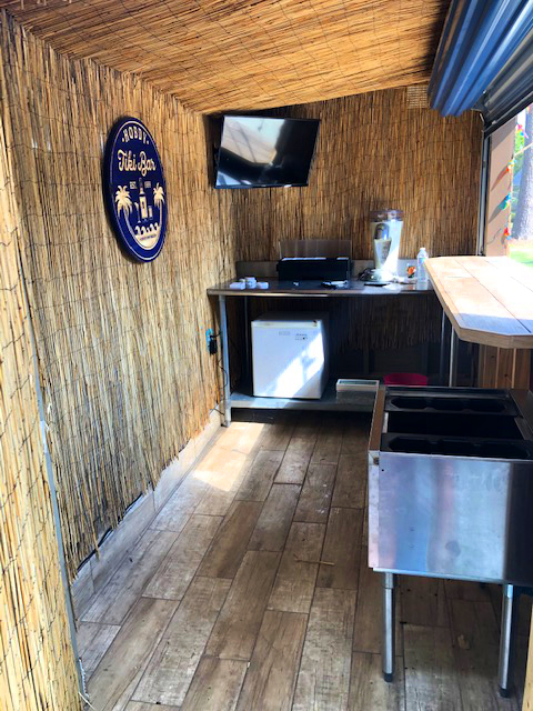 Dirk's tiki shed is a complete backyard paradise.
